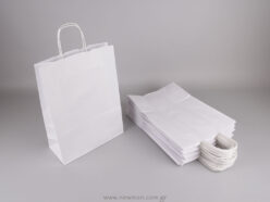 White carrier bag 37x27+12 cm