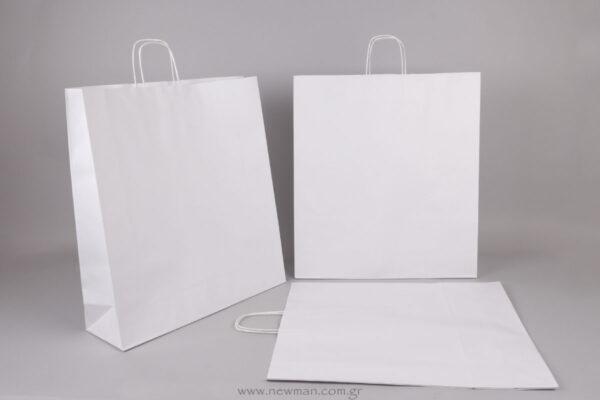 White carrier bag  50x45+14 cm