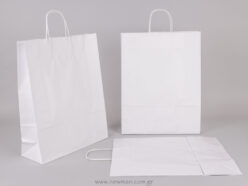 White carrier bag 41x32+12 cm