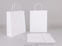 White carrier bag 28x22+10 cm
