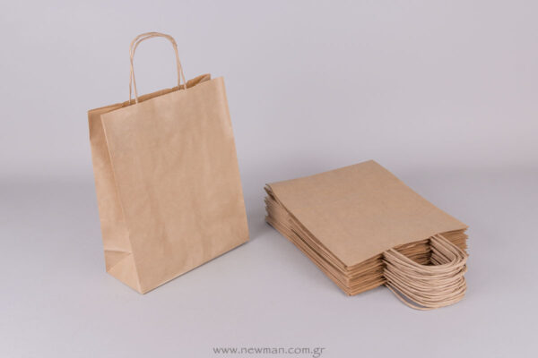 Brown carrier bag 28x22+10 cm