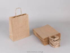 Brown carrier bag 22x18+8 cm