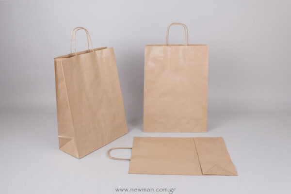 Brown carrier bag 37x27+12 cm