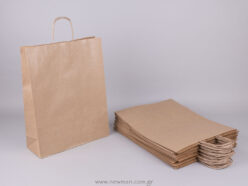 Brown carrier bag 41x32+12 cm