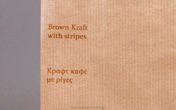 Color of the bag: brown with discrete brownish stripes