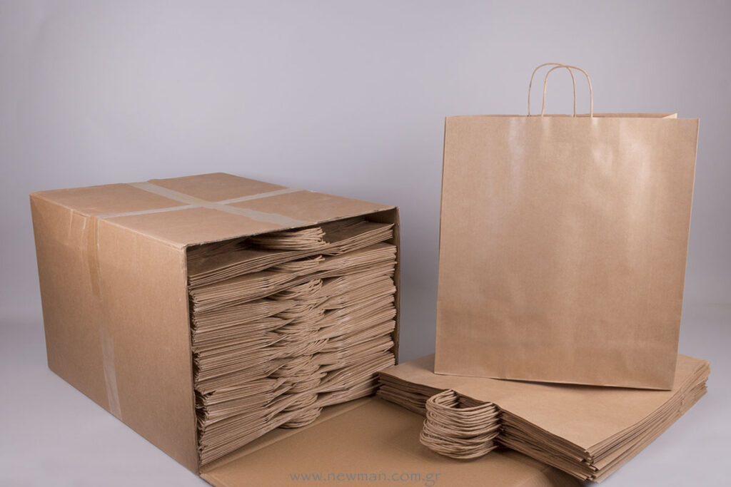Brown carrier bag 50x45+14 copy