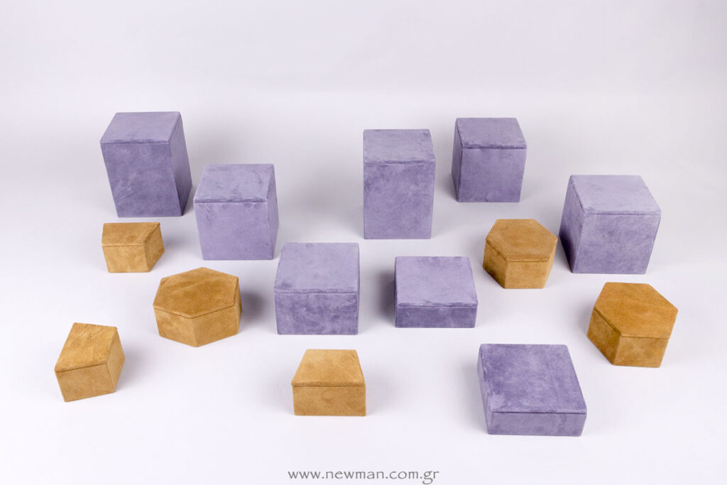 Custom επίπεδα βιτρίνας για προβολή κοσμημάτων με τα υλικά της επιλογής σας