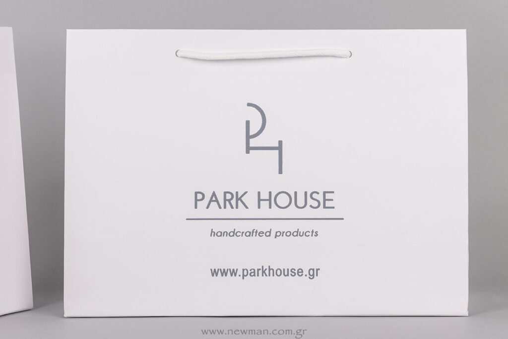 Park House logo printed bags
