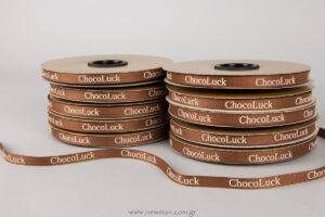 Choco Luck: Fishbone ribbon with logo