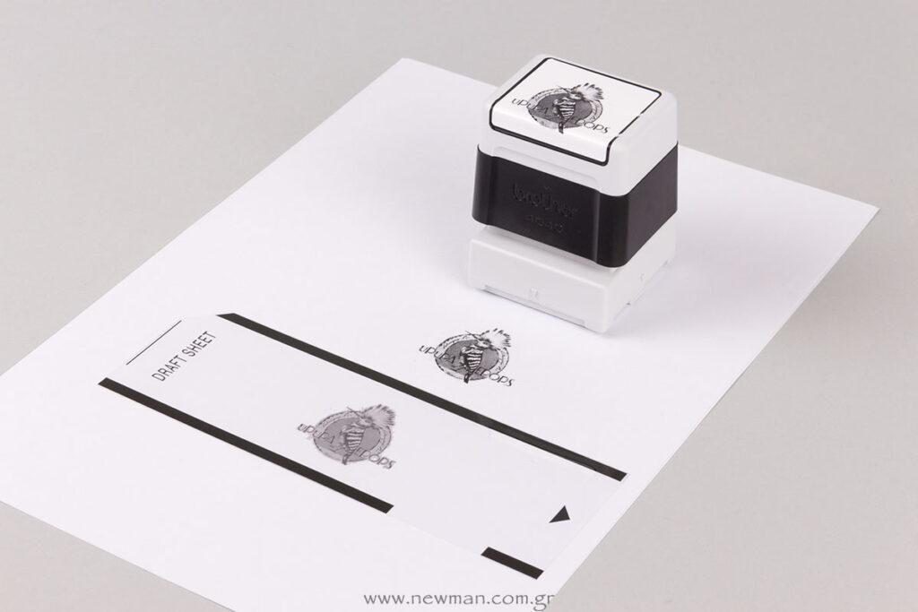 Custom σφραγίδες με λογότυπο, εικόνα, σχήματα και κείμενο
