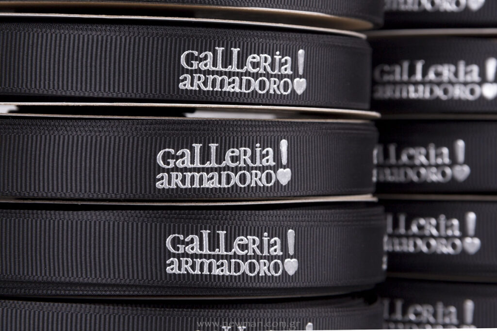 Galleria Armadoro logo ασημί ανάγλυφη εκτύπωση μεταξοτυπίας