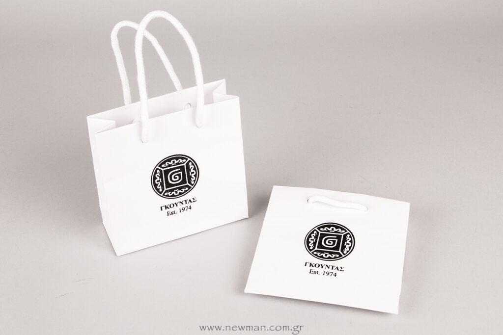 Μεταξοτυπία σε τσάντα Γκοφράτο 13x13x5 με λογότυπο Γκούντας