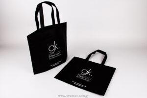 εκτυπωμένο το λογότυπο gk fassion πάνω σε τσάντα Non-woven