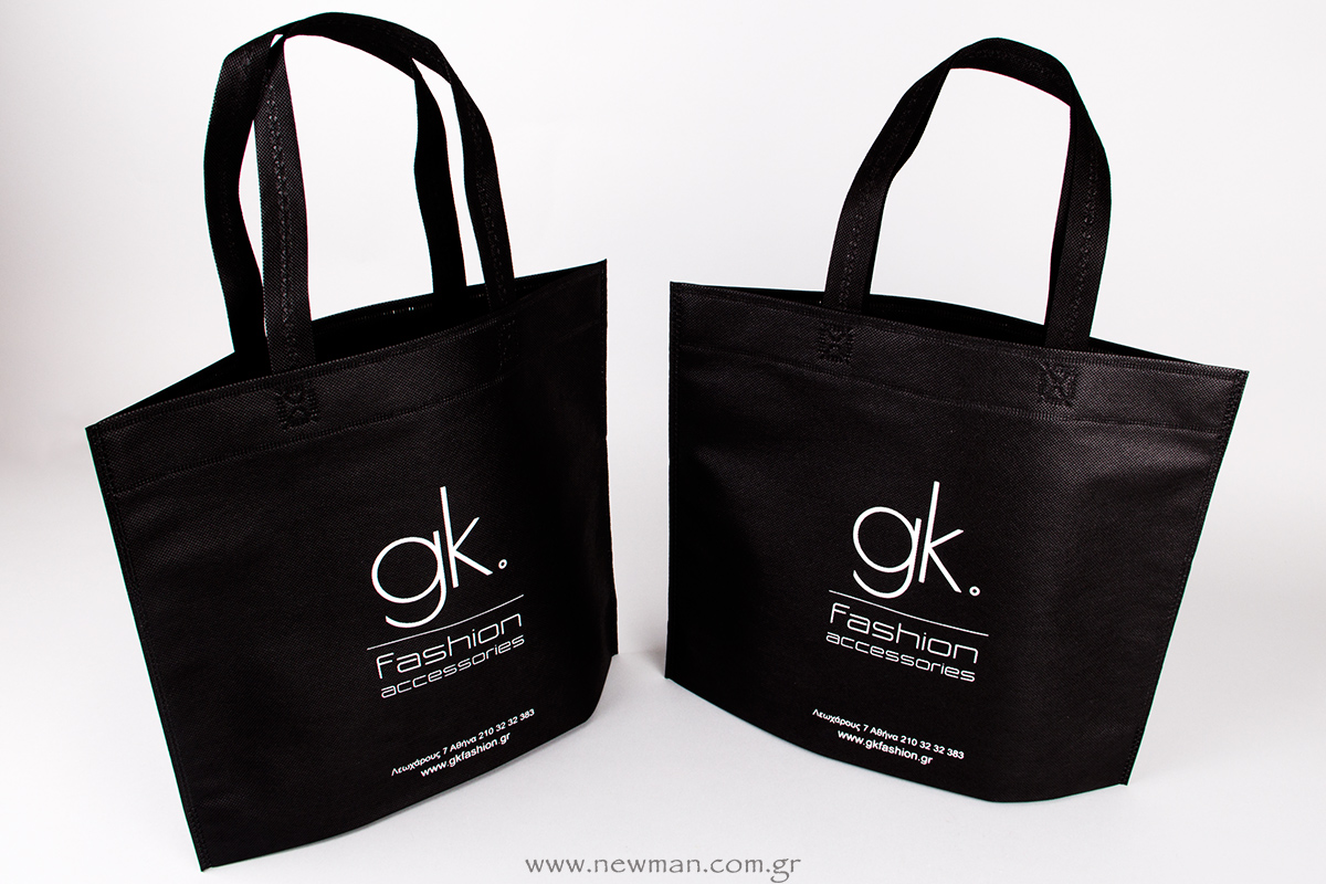Printed logo gk fashion on non woven bag