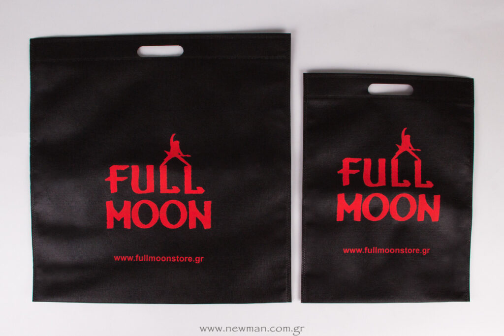 Printed-Non-woven-bags-or-the-store-Full-Moon