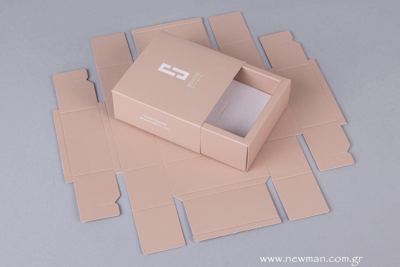 Το κουτί διατίθεται σε flat, ανοιχτή μορφή για ευκολία στη μεταφορά και για εξοικονόμηση αποθηκευτικού χώρου.