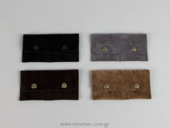 Pocket-sized pouch with button in 4 colors
