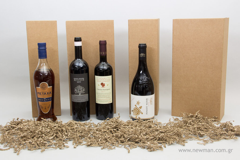 Connect your items with Newman's eco-friendly cardboard Kraft boxes for bottles' high quality and eco-friendly luxury.