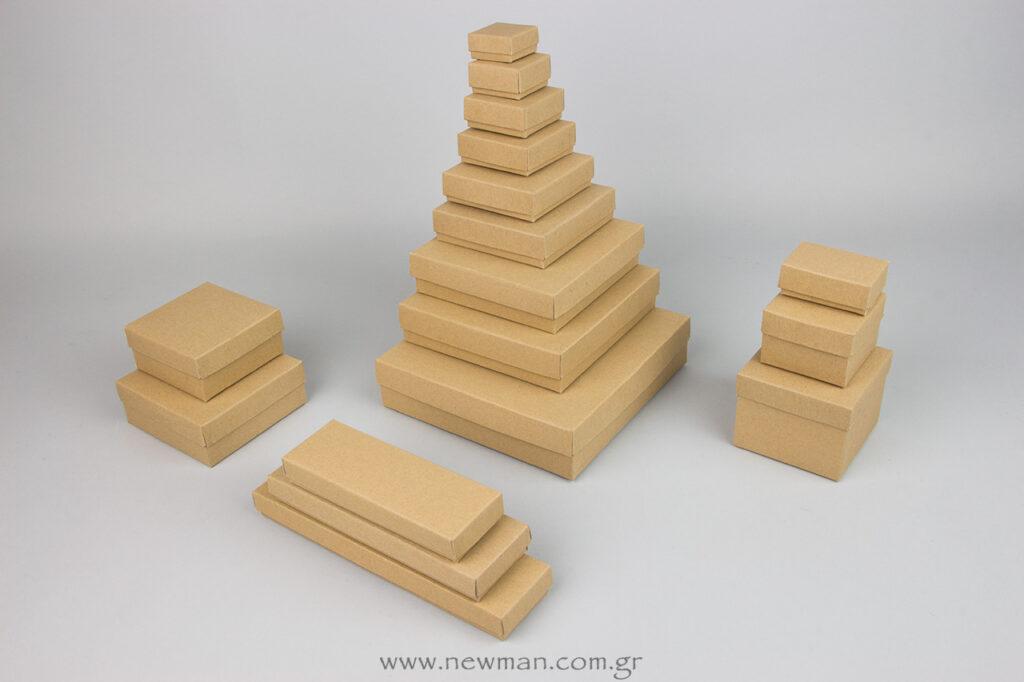 Low-priced cardboard kraft box 17 sizes
