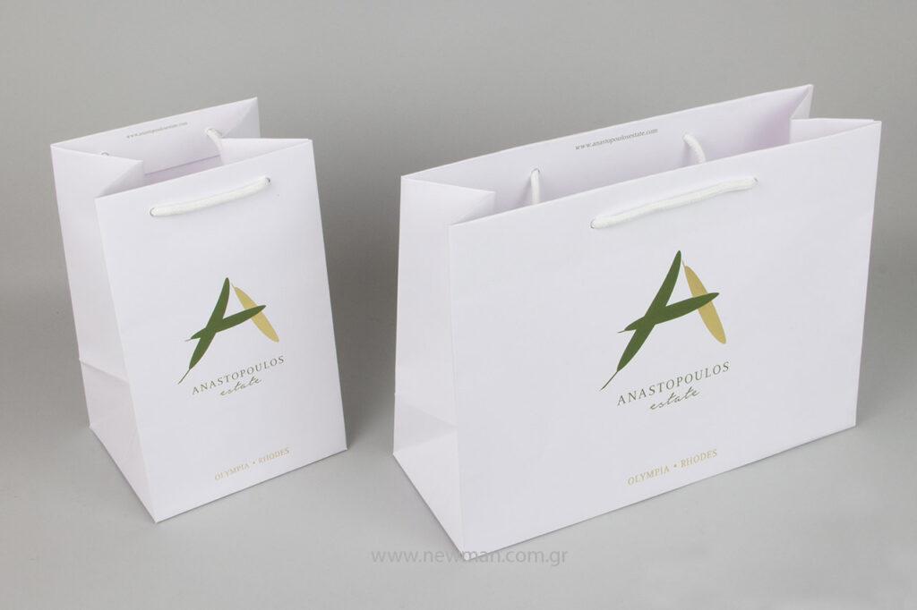 Η offset εκτύπωση και η εκτύπωση με χρυσή θερμοτυπία του λογότυπου στις τσάντες Gofrato.