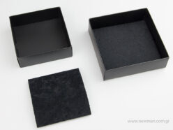 Paperboard black illuminated bijoux boxes with black velvet pad in 5 sizes 0750