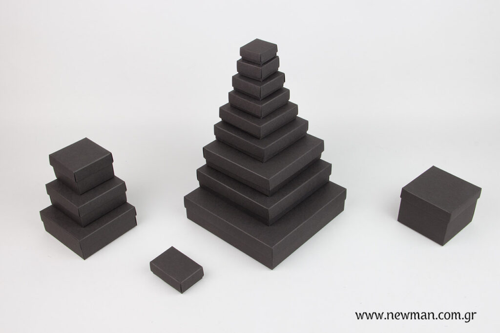 Black carton luxury bijoux box 14 sizes - 0552