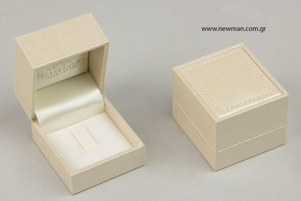 Σειρά κουτιών κοσμημάτων CTK: εκρού χρώμα.