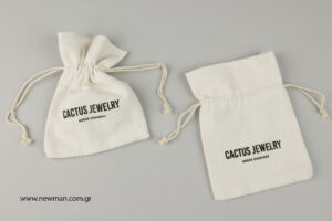 Cactus Jewelry: Printed linen pouch