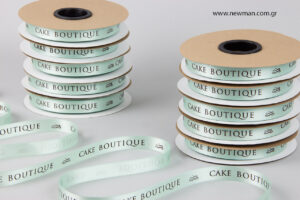 Cake Boutique: Printed satin ribbons.