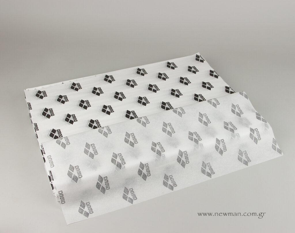 Για τον πελάτη της ARENA GREECE τυπώσαμε το λογότυπο σε μαύρο χρώμα πάνω σε χαρτί αφής 18 γραμμαρίων μεγέθους 50x70cm.