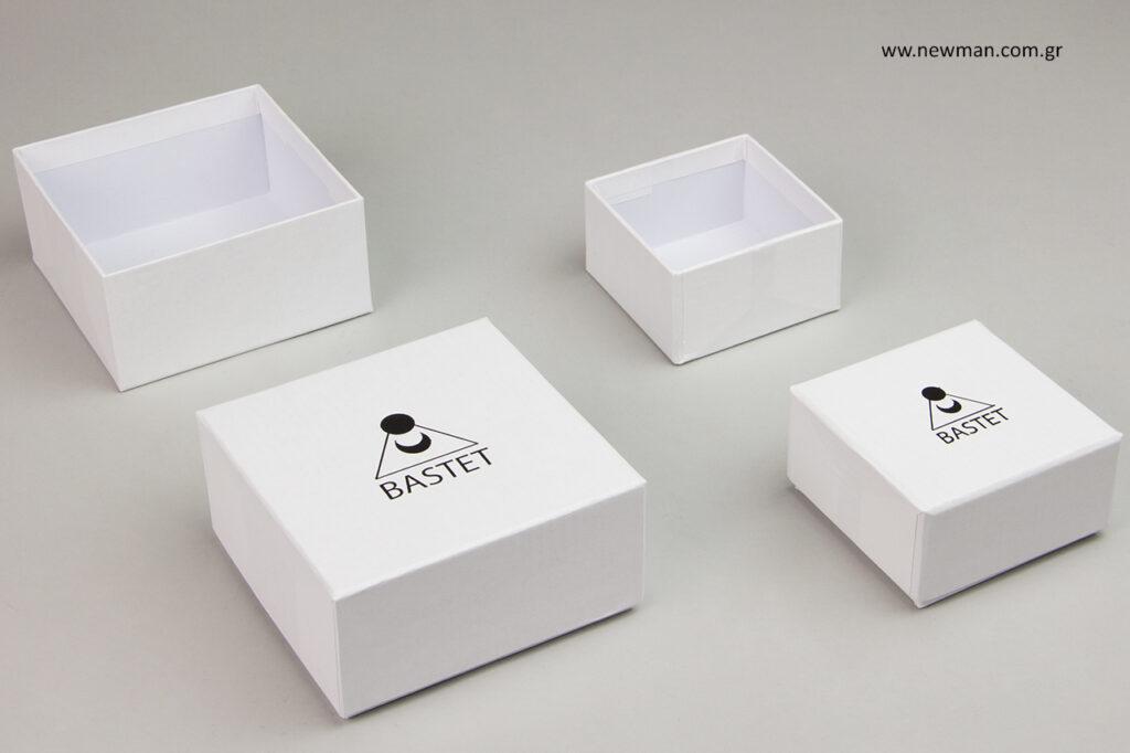 Κουτιά κοσμημάτων με εκτύπωση λογότυπου ειδικής παραγγελίας NewMan