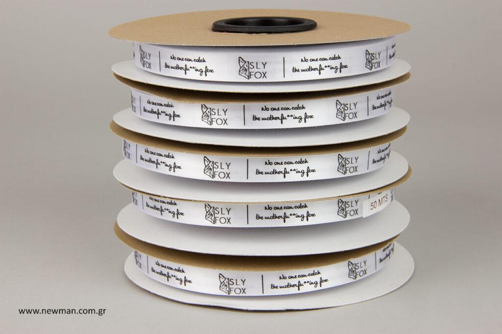 Κορδέλες χονδρικής με εκτύπωση λογότυπου by NewMan.