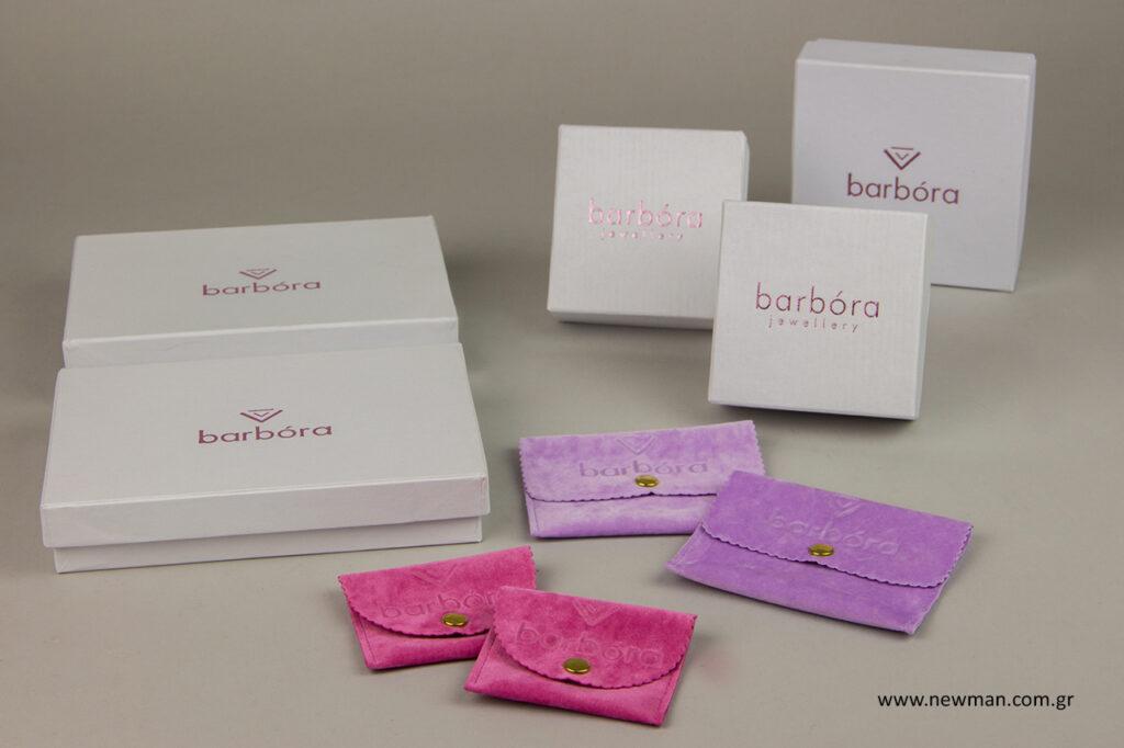 Barbora jewellery: Εκτυπωμένες συσκευασίες κοσμημάτων.