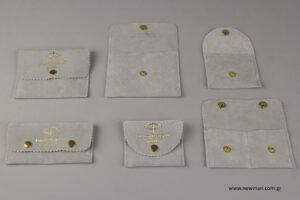 Fotini Psarouli Jewellery: Τυπωμένα πουγκιά με χρυσοτυπία.