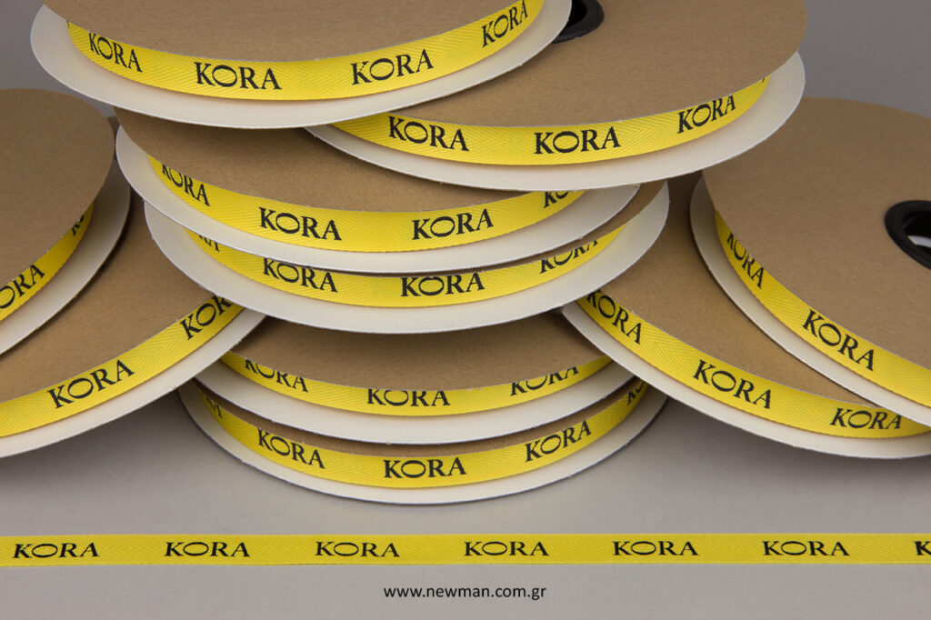 KORA Bakery: Τυπωμένες κορδέλες με μεταξοτυπία