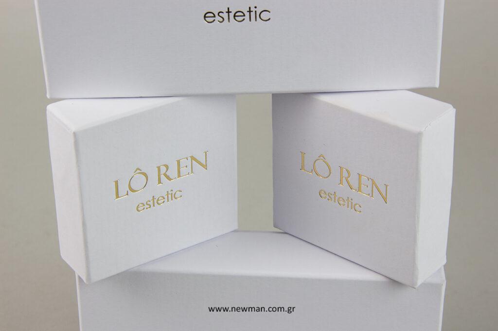 loren estetic: κουτί συσκευασίας με επωνυμία.