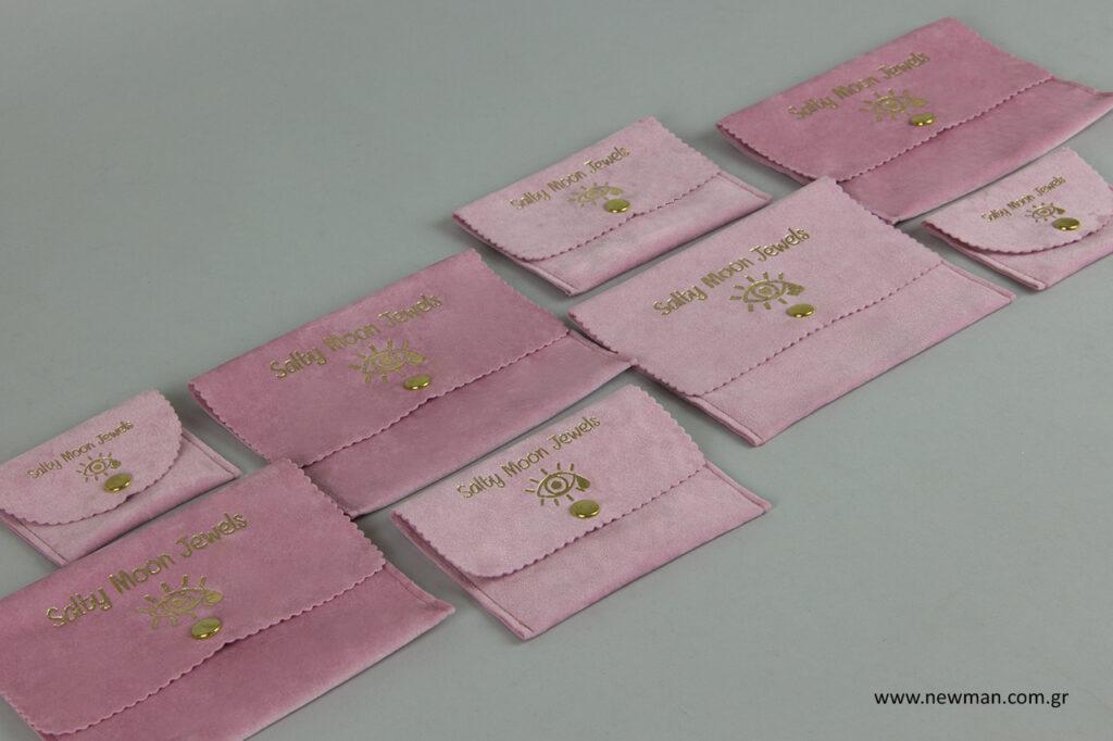 Salty Moon Jewelry: Εκτυπώσεις σε πουγκιά συσκευασίας