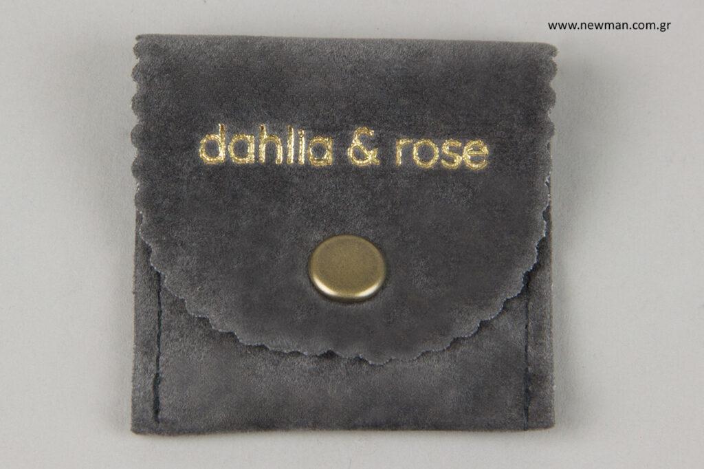 dahliaandrose: Πουγκιά για κοσμήματα και αξεσουάρ με χρυσό τύπωμα.