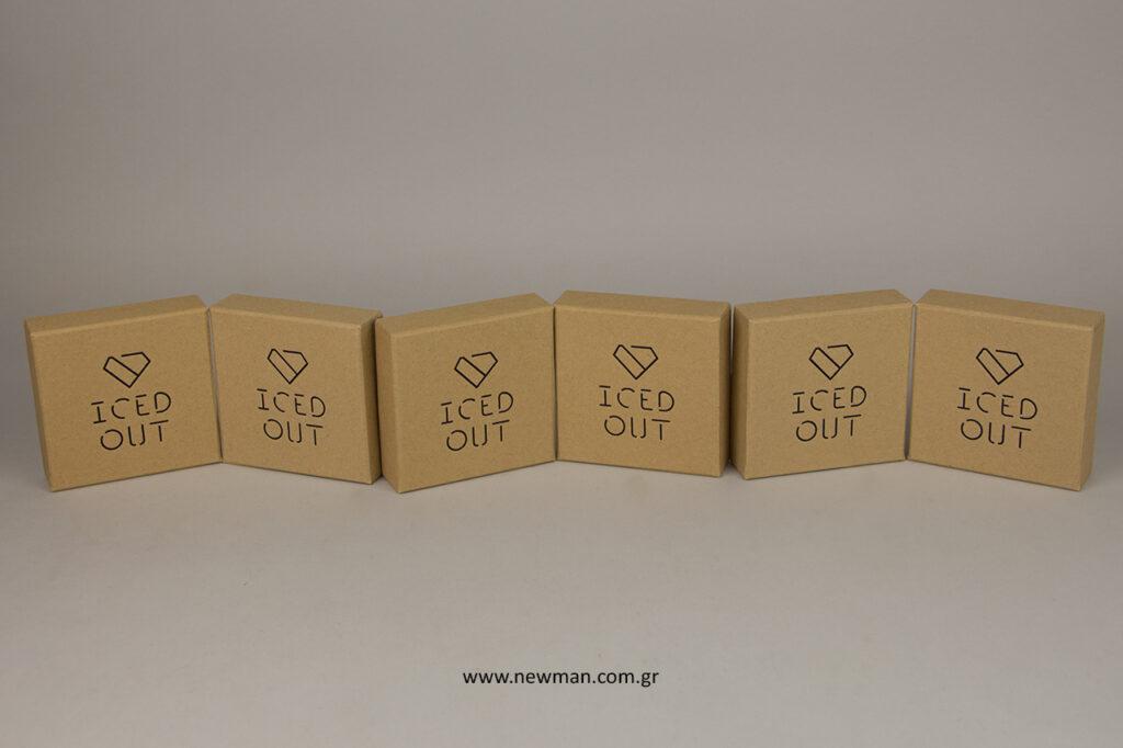 Τυπωμένα κουτιά για κοσμήματα για την εταιρεία Iced Out.
