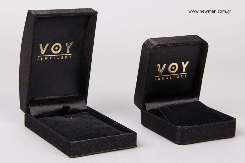 Κουτιά κοσμημάτων από σατέν-μετάξι.