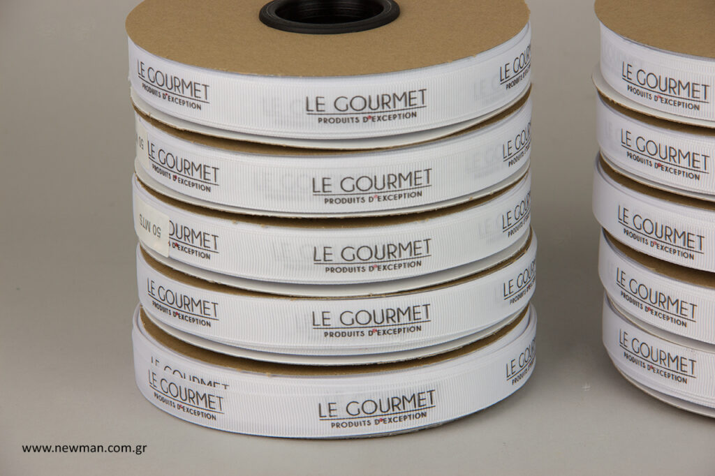 Le Gourmet: Εκτυπωμένες κορδέλες γκρο