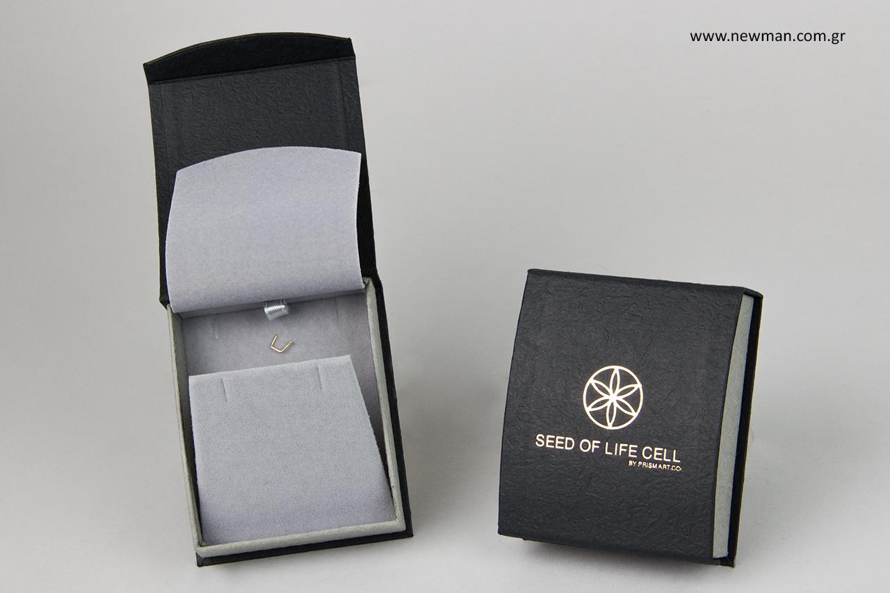 Τυπωμένα κουτιά για κόσμημα με χρυσοτυπία.
