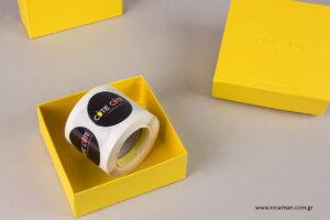 Cutie Cute: Τυπωμένα κουτιά και τυπωμένες ετικέτες Newman.