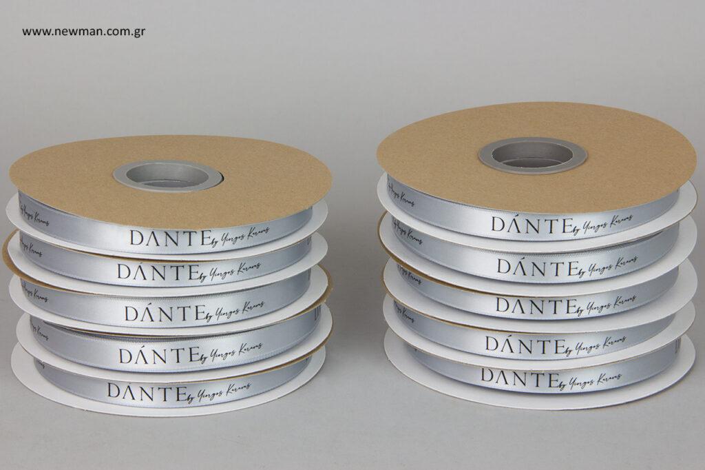 Τυπώσαμε κορδέλα πολυτελείας για τη συλλογή Dante by Yiorgos Karavas.