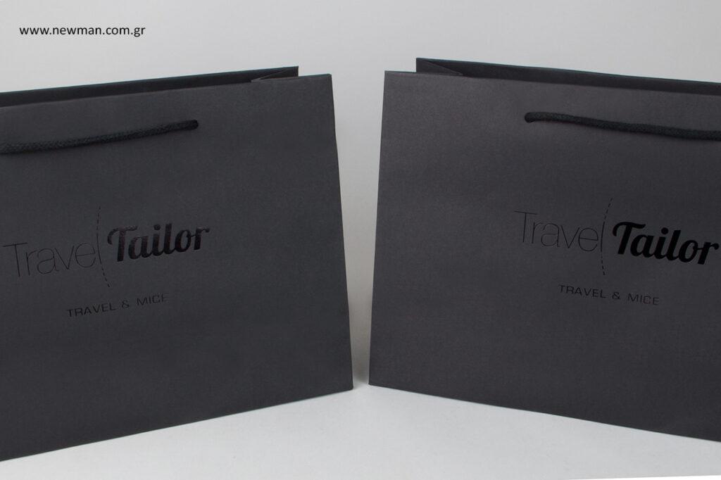 Burano τυπωμένες τσάντες σε μαύρο χρώμα.