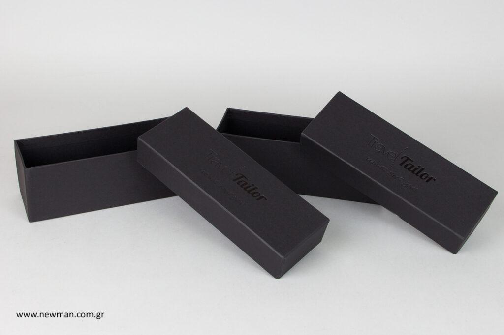 Επώνυμα κουτιά συσκευασίας με εκτύπωση.