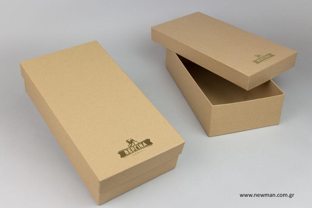 Τυπωμένα κουτιά για μπουκάλια.