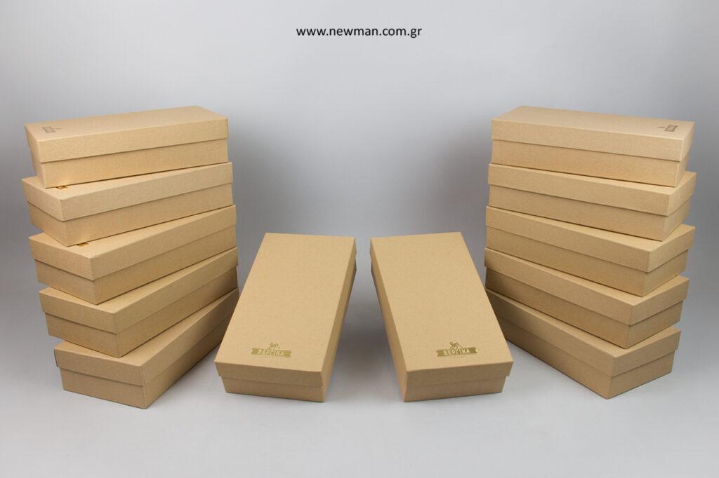 Κραφτ κουτιά συσκευασίας NewMan με εκτύπωση.
