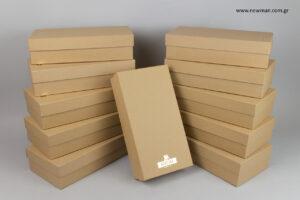 Μπύρα Βεργίνα: Τυπωμένα κραφτ κουτιά για μπουκάλια.
