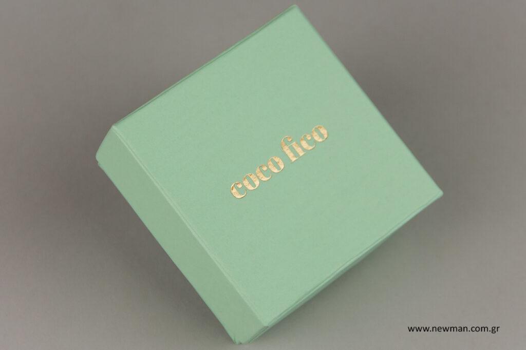 Κουτιά για κόσμημα στο χρώμα της μέντας.